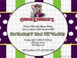 E Invite for Birthday Chuck E Cheese Birthday Invitation Dolanpedia