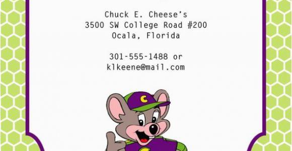 E Invite for Birthday Chuck E Cheese Birthday Invitation