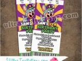 E Invite for Birthday Chuck E Cheese Ticket Birthday Invitations