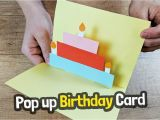 Easy Pop Up Cards for Birthdays Pop Up Birthday Card Craft for Kids Easy Diy Youtube