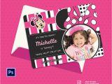 Editable 1st Birthday Invitation Card Free Download Editable Minnie Mouse Birthday Invitations Lijicinu