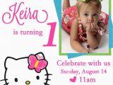 Editable 1st Birthday Invitation Card Free Download Free Personalized Hello Kitty Birthday Invitations Free