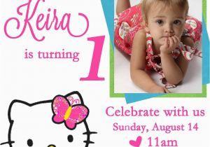 Editable 1st Birthday Invitation Card Free Download Personalized Hello Kitty Invitations