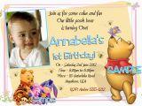 Editable 1st Birthday Invitation Card Free Download Winnie the Pooh Birthday Invitations Printable Photo Card