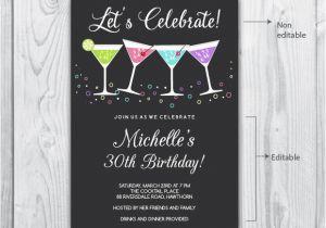 Editable 30th Birthday Invitations 30th Birthday Invitation Template