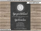 Editable 30th Birthday Invitations 30th Birthday Invitation Template Chalkboard Silver