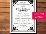 Editable 30th Birthday Invitations 50th Birthday Invitation Surprise Birthday Invitation