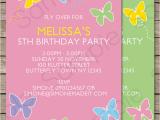 Editable Birthday Invitations Templates Free butterfly Party Invitations Template Birthday Party