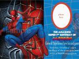 Editable Spiderman Birthday Invitation Blank Spiderman Invitations Invitetown I Want A Spider