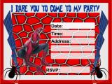 Editable Spiderman Birthday Invitation Free Birthday Invitations to Print Free Invitation
