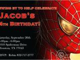 Editable Spiderman Birthday Invitation Free Personalized Spiderman Birthday Invitations