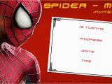 Editable Spiderman Birthday Invitation Free Printable Blank Spiderman Birthday Invitation Free