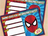 Editable Spiderman Birthday Invitation Free Printable Spider Man Birthday Invitation