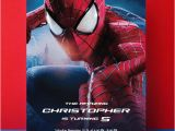 Editable Spiderman Birthday Invitation Spiderman Birthday Invitation Spiderman Party by