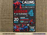 Editable Spiderman Birthday Invitation Spiderman Invitationspiderman Birthdayspiderman Birthday
