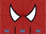 Editable Spiderman Birthday Invitation Spiderman Superhero Party Invitation Editable