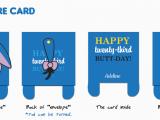 Eeyore Birthday Card Eeyore Greeting Card Chubbyballoon