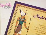 Egyptian Birthday Invitations Egyptian themed Party Invitation Custom by