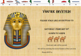 Egyptian Birthday Invitations Walk Like An Egyptian Party the Martha Project