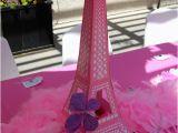 Eiffel tower Birthday Decorations Eiffel tower Centerpiece Tiny oranges Oc Mom Blog