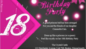 Eighteenth Birthday Invitations 18th Birthday Party Invitation Wording Wordings and Messages