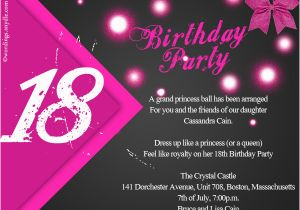 Eighteenth Birthday Invitations 18th Party Invitation Wording Wordings And Messages