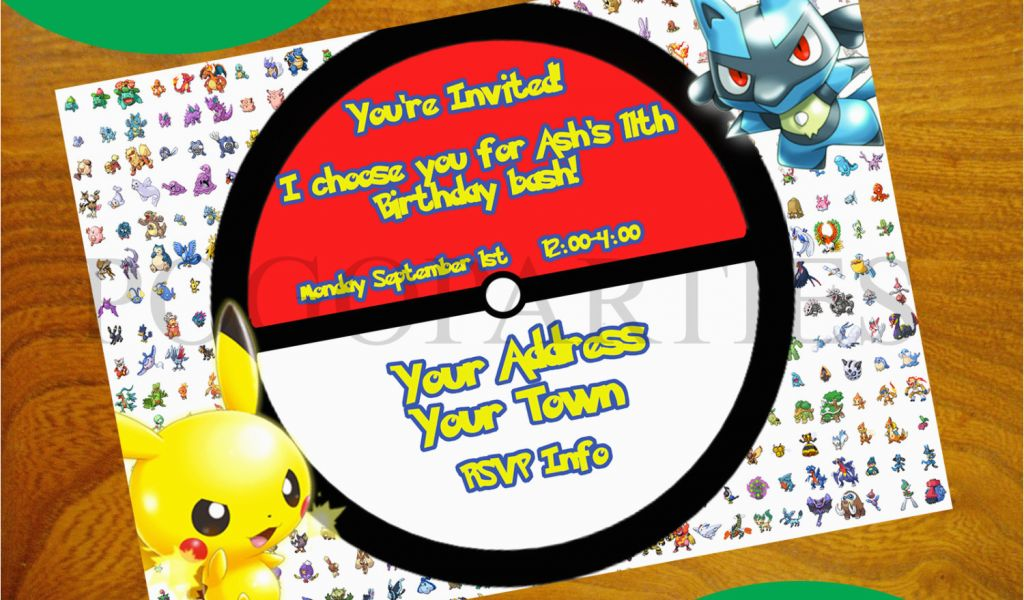 Electronic Birthday Invites Pokemon Invitations Free