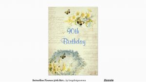 Elegant 90th Birthday Decorations Elegant 90th Birthday Party Invitation Zazzle