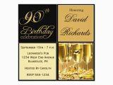 Elegant 90th Birthday Decorations Elegant 90th Birthday Party Invitations Zazzle Ca