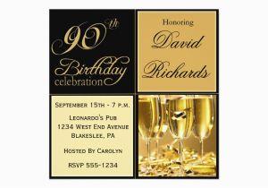 Elegant 90th Birthday Decorations Party Invitations Zazzle Ca