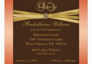 Elegant 90th Birthday Decorations Party Invitations Zazzle Com Au