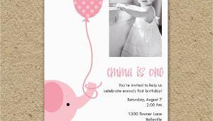 Elephant Birthday Invitation Template Birthday Invitation Templates Elephant Birthday