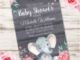 Elephant Birthday Invitation Template Elephant Baby Shower Invitation Printable Edit with