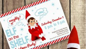 Elf On the Shelf Birthday Invitation Elf On the Shelf Inspired theme Do It Yourself Printable