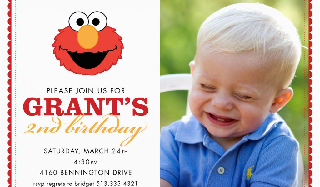 Download By SizeHandphone Tablet Desktop Original Size Back To Elmo 1st Birthday Party Invitations