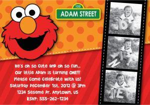 Elmo 1st Birthday Party Invitations Elmo Birthday Invitation Sesame