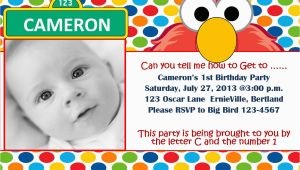 Elmo 1st Birthday Party Invitations Free Printable Elmo 1st Birthday Invitations Template