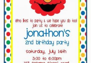 Elmo 2nd Birthday Invitations 15 Best Images About Invites On Pinterest