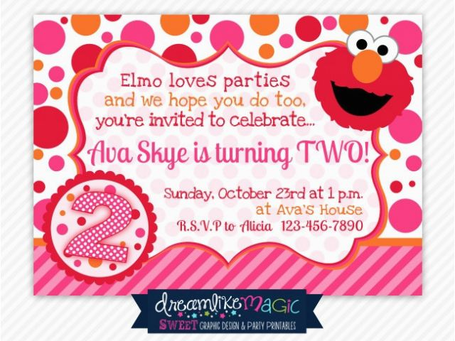 Download By SizeHandphone Tablet Desktop Original Size Back To Elmo 2nd Birthday Invitations