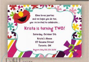 Elmo 2nd Birthday Invitations Stylish Party Invitation Wording World