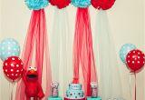 Elmo Birthday Decoration Ideas Kara 39 S Party Ideas Red and Turquoise Elmo Party Sesame
