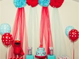 Elmo Birthday Decorations Ideas Kara 39 S Party Ideas Red and Turquoise Elmo Party Sesame