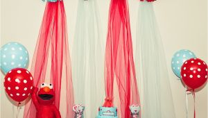 Elmo Birthday Decorations Ideas Kara 39 S Party Ideas Red and Turquoise Elmo Party Sesame