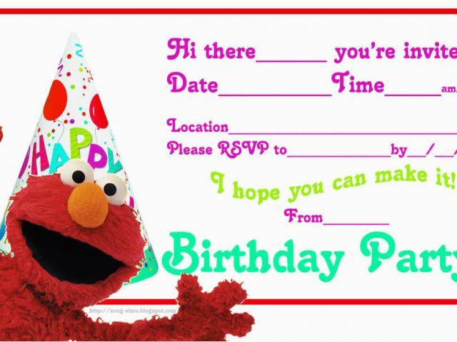 Download By SizeHandphone Tablet Desktop Original Size Back To Elmo Birthday Invitations Online