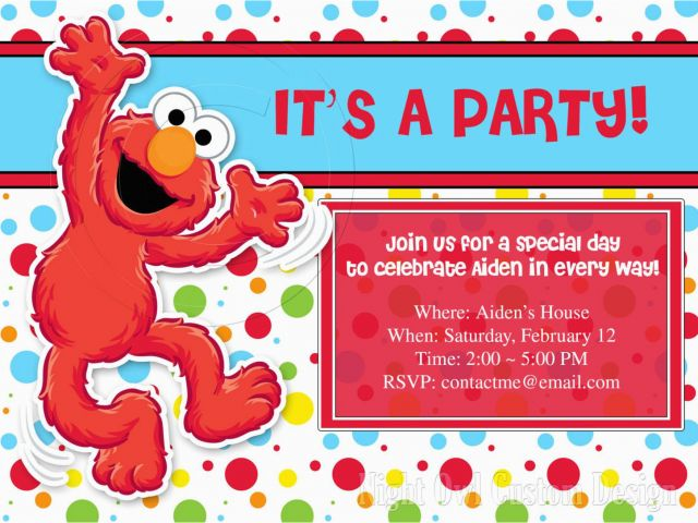 Elmo Birthday Invitations Online Party