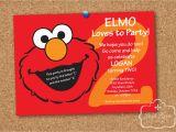 Elmo Birthday Invitations Online Elmo Sesame Street Birthday Party Personalized Printable