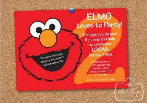 Elmo Birthday Invitations Online Sesame Street Party Personalized Printable