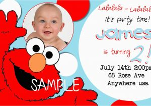Elmo Birthday Invitations Online Free Printable With Photo