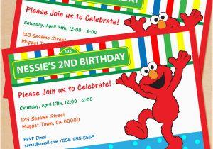 Elmo Birthday Invitations Online Free Printable Sesame Street Invitation