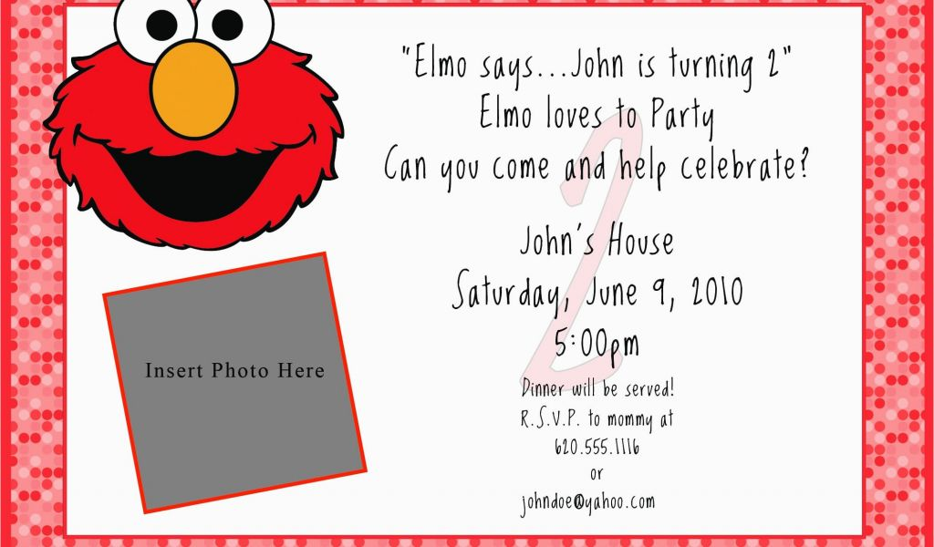 Elmo Birthday Invitations Online Printable Free Invitation